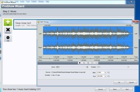 add music to slideshows