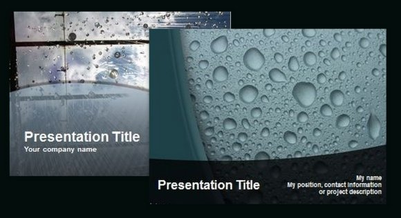 Free water drop powerpoint templates best due drop templates liquid powerpoint template toneelgroepblik Image collections
