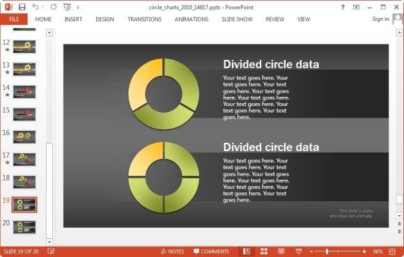 divided data circle chart