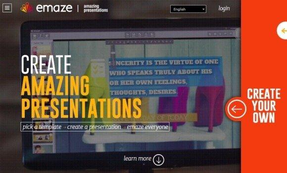 emaze online presentation web app