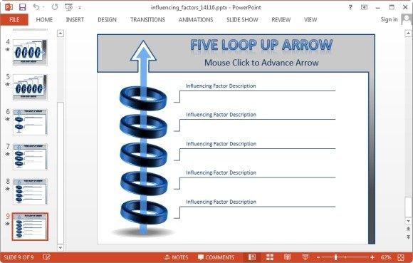 five loop arrow