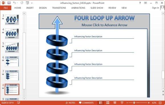 four loop vertical arrow