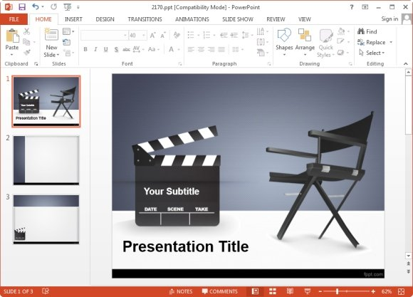powerpoint presentations in the entertainment industry