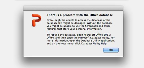 Fix there is a problem with the Office database
