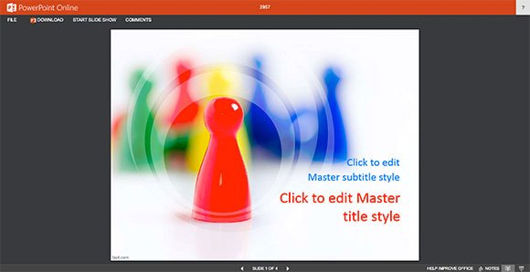 how to view powerpoint documents online in a browser using office