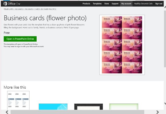 Cards maker template for powerpoint access amazing templates in powerpoint online accmission Images