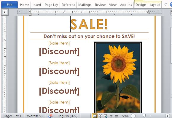 Attract Patrons and New Customers with Your Sale Announcement