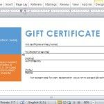 Beautifully and Professionally Designed Gift Certificate for Business