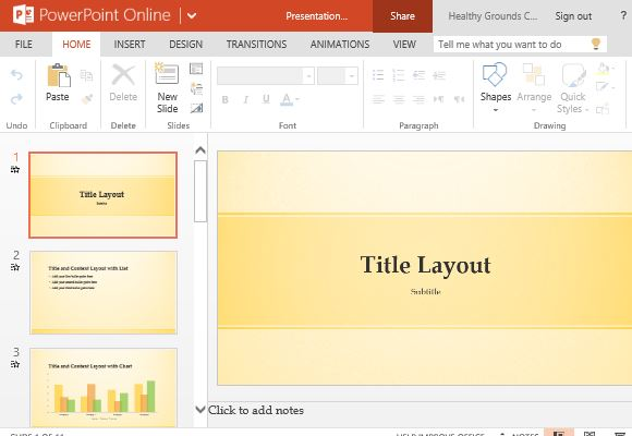 Bright Yellow Template for PowerPoint Presentations