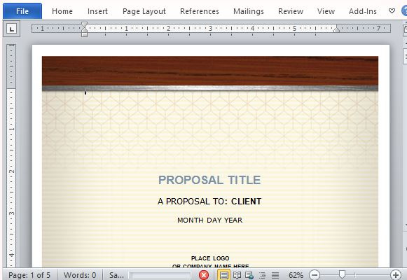 health care proposal template for word, Powerpoint templates