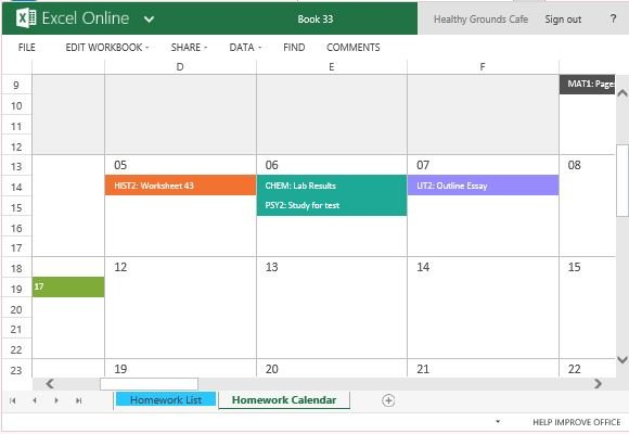 Calendar Template For Excel