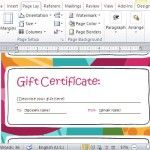 Colorful and Festive Gift Certificate Design