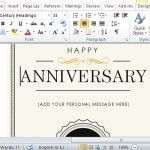 Create an Elegant Anniversary Gift Certificate Note Card in Minutes