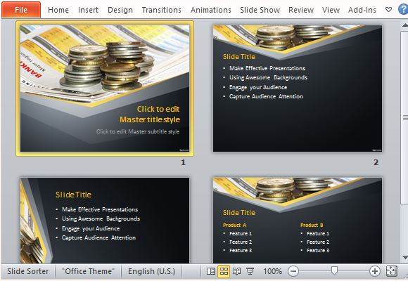 Best currency powerpoint templates make money matter with this template toneelgroepblik Choice Image