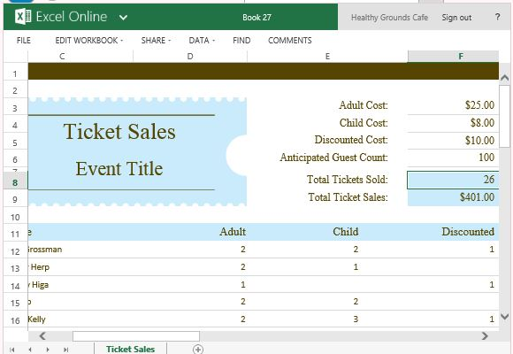 Ticket sales tracker template for excel maxwellsz