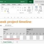 Project Timeline Template for School, Work or Personal Use