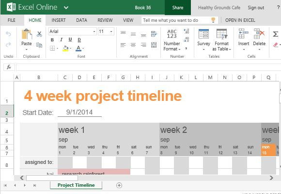 Free project timeline template for excel toneelgroepblik Choice Image