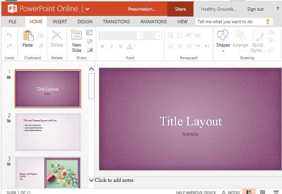 Subtle yet Elegant Floral Design for PowerPoint Presentations