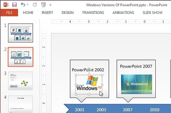 align images with powerpoint 2013 ruler