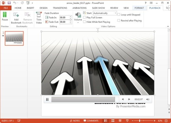 arrow leader animation for powerpoint