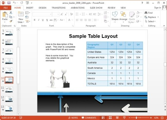 animated arrows template for powerpoint