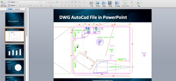How to Insert an AutoCAD  dwg file in a PowerPoint Presentation