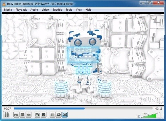 boxy robot video animation with custom text