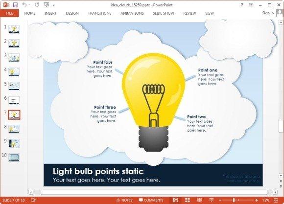 idea bulb animated slide