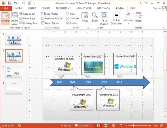 using gridlines and guides in powerpoint 2013