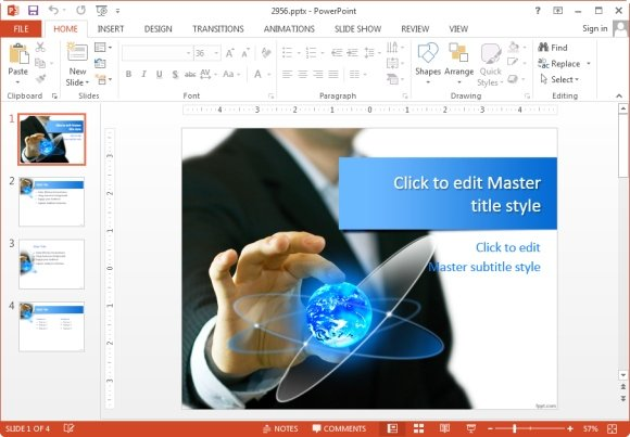 using templates for presentations