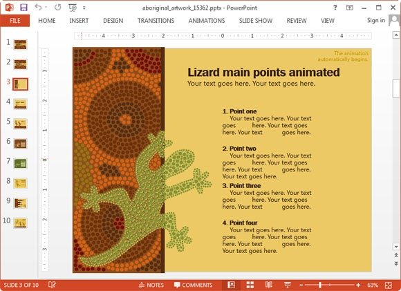 Animated aboriginal artwork powerpoint template aboriginal artwork slide design toneelgroepblik Images