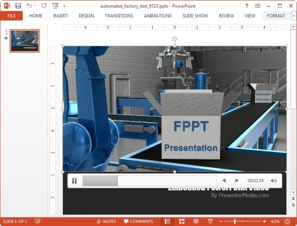 Automated factory video background template