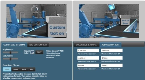 Automated factory video background