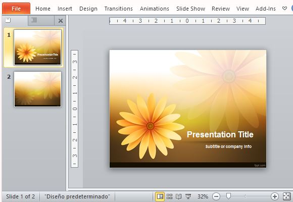 Bright and Elegant Daisy Inspired PowerPoint Template