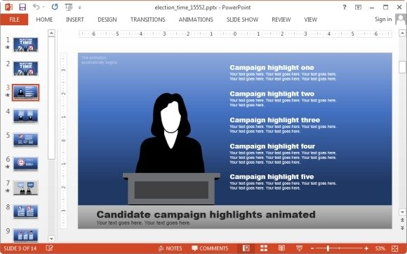 animated election powerpoint template