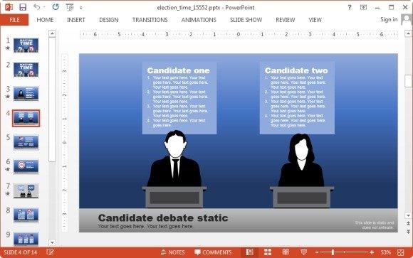 Candidate comparison slide