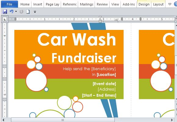 fundraising flyer template free