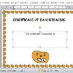 Certificate templates halloween award certificate template for powerpoint yadclub Image collections