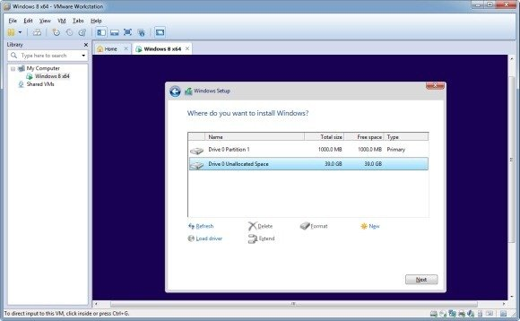 Create disk partitions in Windows 10