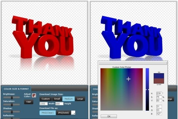 Customize thank you clipart
