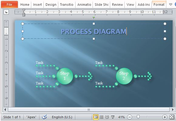 Customize the Process Diagram for Your Own Presentation and Preference