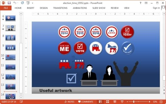 Election clipart slide