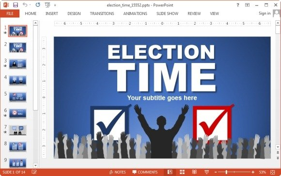 Animated election powerpoint template election time powerpoint template toneelgroepblik Image collections