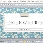 Elegant Savon Style PowerPoint Template