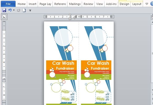 Hanger flyers template for word fit two door hanger flyers in one page toneelgroepblik Choice Image