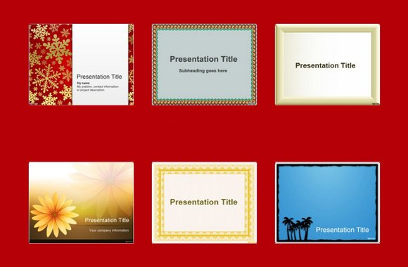 top 10 free border templates for powerpoint, Modern powerpoint