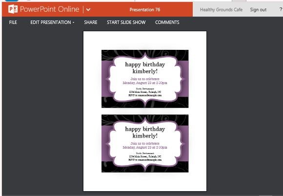 free party invitation templates powerpoint
