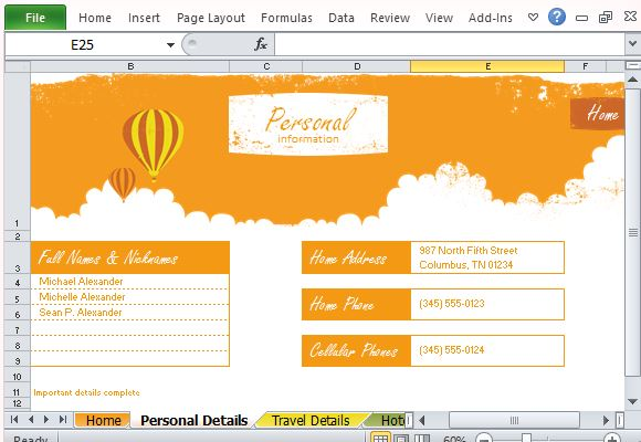 Free vacation planner excel template have a record of everyone in the journey toneelgroepblik