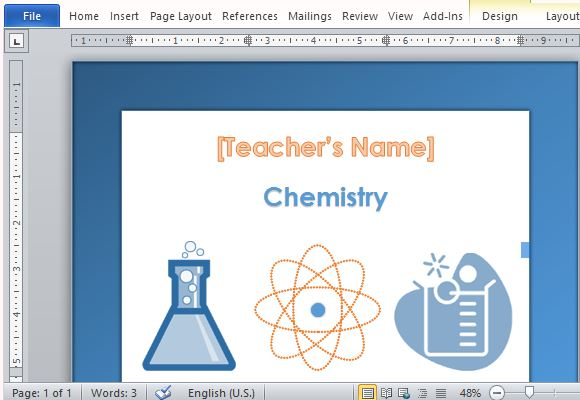 Make Chemistry More Fun with This Graphic Template