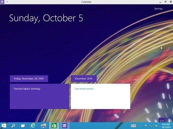 Modern UI app in classic desktop